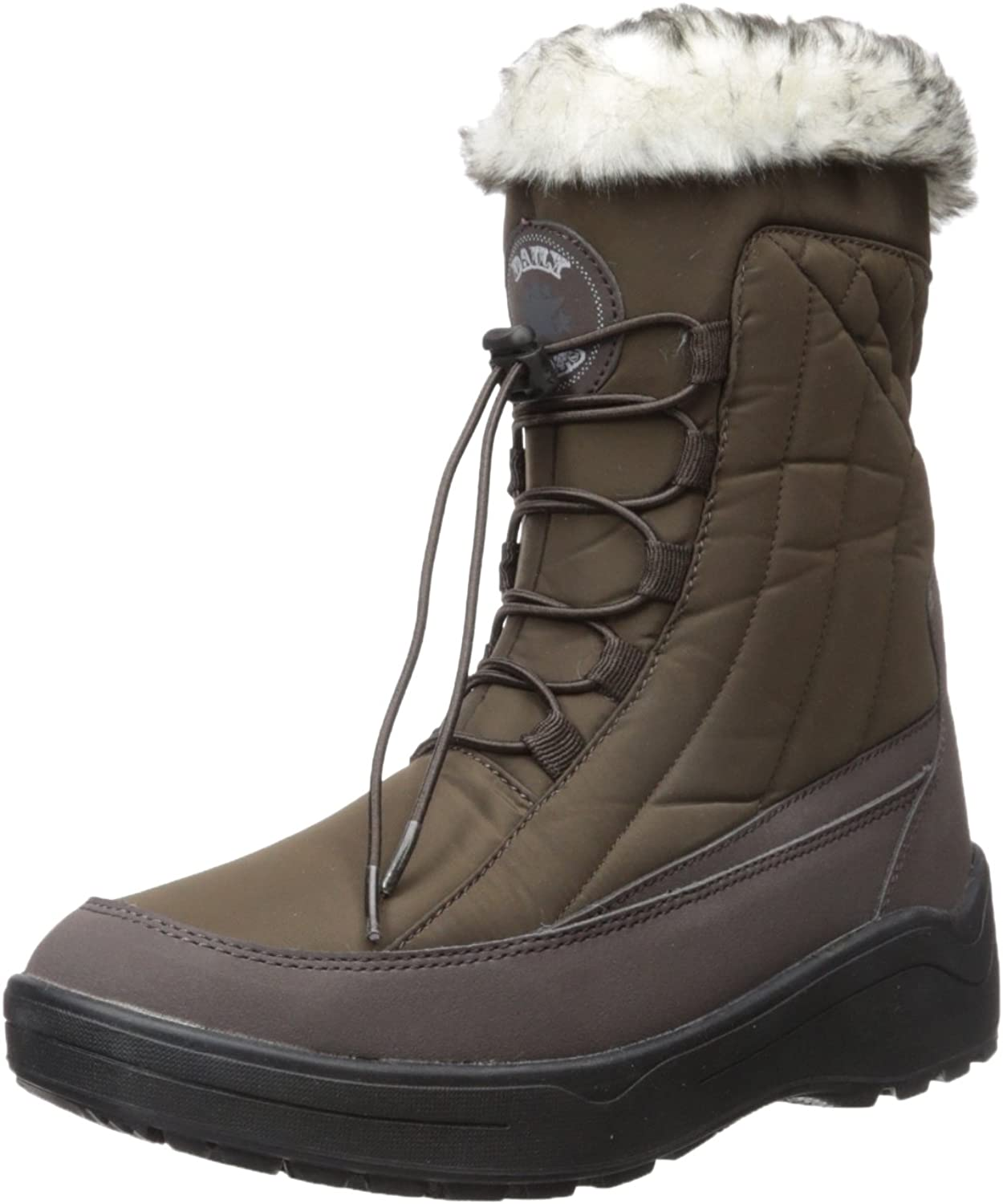 Dailyshoes Woman's Ankle High Lace Up Warm Water Resistant Eskimo Snow Boots