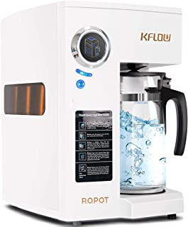 KFLOW Countertop Water Filter, Zero Installation Reverse Osmosis Water Filtration System Water Purifier Alkaline Drinking Water Filter 4-Stage Filtration System
