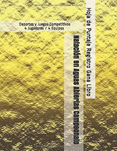 Natación en Aguas Abiertas Campeonato - Deportes y Juegos Competitivos - 4 Jugadores / 4 Equipos - Hoja de Puntaje Registro Gana Libro