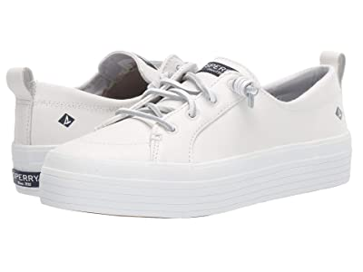 Sperry Crest Vibe Triple Leather (White) Women