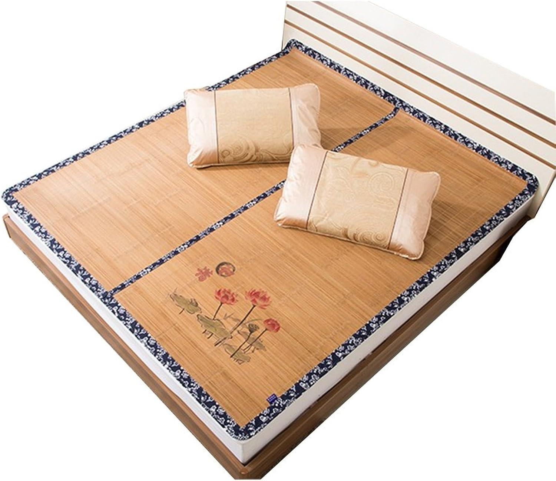 WENZHE Matratzen Matratze Schlafmatten Bambus Schlafmatte EIS Seide Sommerschlafmatte Gewebte Zusammenklappbar Glatt, 5 Größen, 2 Arten Strohmatte Teppiche B07F37LRWJ  Auktion