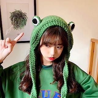 Winter Skullies Cute Women Frog Hat Crochet Knitted Hat, Women Gift Hip-hop Cap, Costume Women Winter Crochet Cute Knitted...