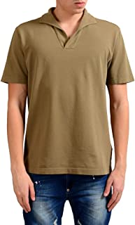 MALO Men's Brown Short Sleeve Polo Shirt