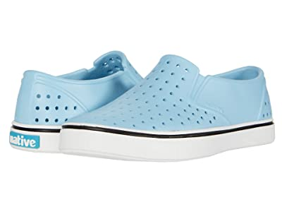 Native Kids Shoes Miles Slip-On (Little Kid/Big Kid) (Sky Blue/Shell White) Boys Shoes