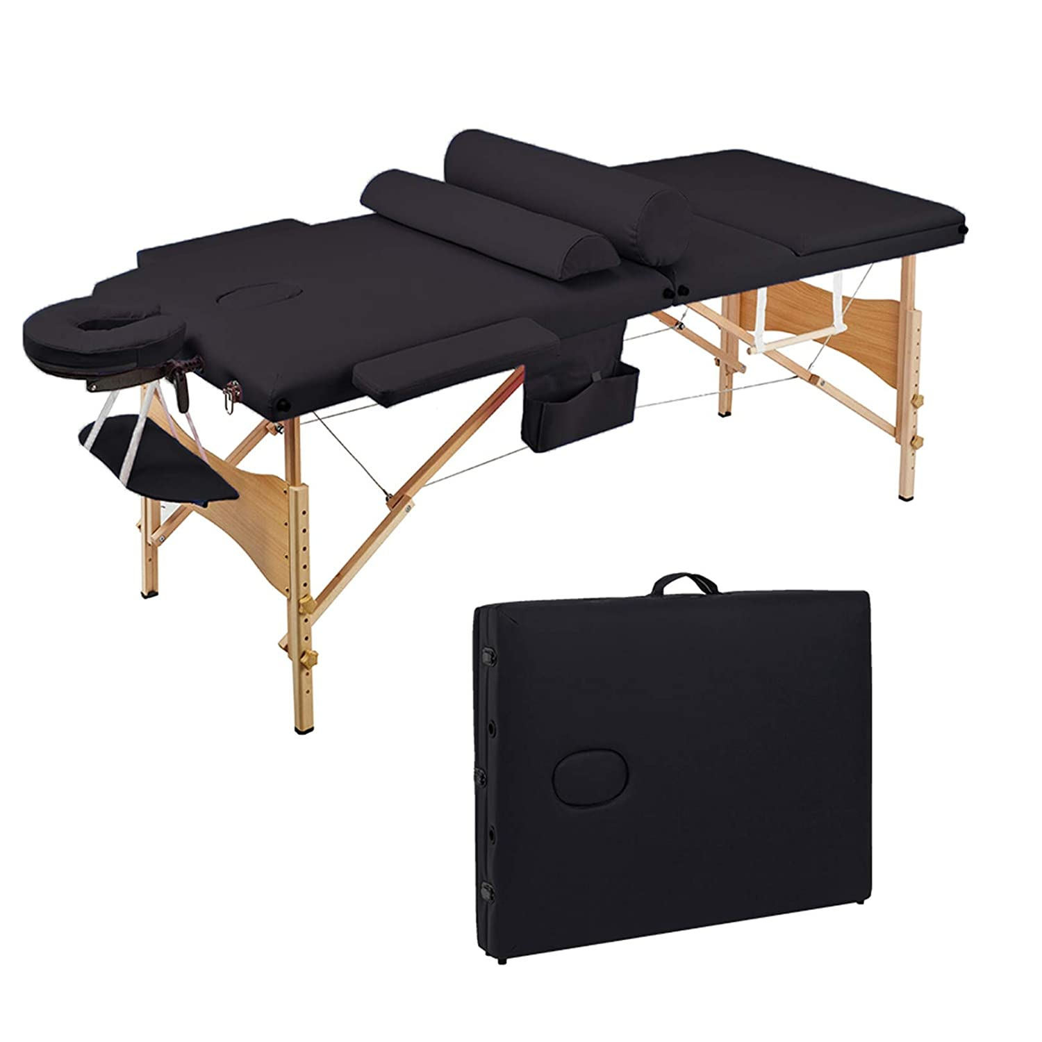 3 Sections Folding Portable SPA Set Max 65% OFF High order Massage Bodybuilding B Table