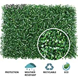Paneles artificiales de boj, 4 piezas Cercas de plantas artificiales de boj, planta de cobertura artificial superior Proteccin de privacidad Paneles de vegetacin 60cm * 40cm Paquete de 4