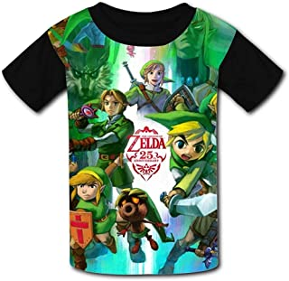 guoweiweiB Camisetas de Manga Corta para niño, Game The Leg-End of Zel-da Unisex Kids T-Shirts 3D Printed Fashion Youth T ...