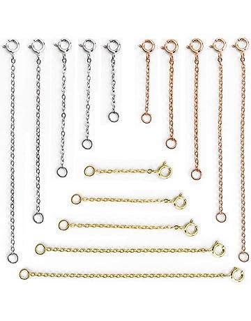 12 Pezzi Chiusura Fermagli Magnetici Chiusura Magnetica Gioielli Rosa Chiusure a Moschettone Collana Convertitore Chiusura Estensori di Catena per Bracciale Gioielli Oro Argento e Oro Rosa