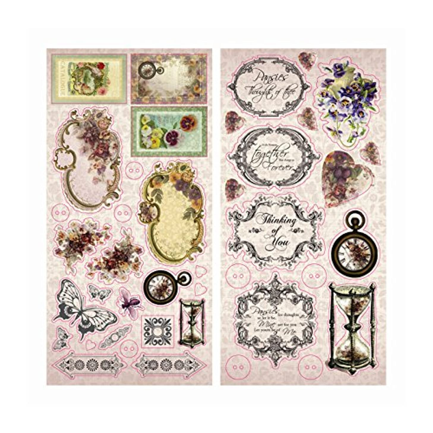 Hearts Ease Chipboard Stickers-