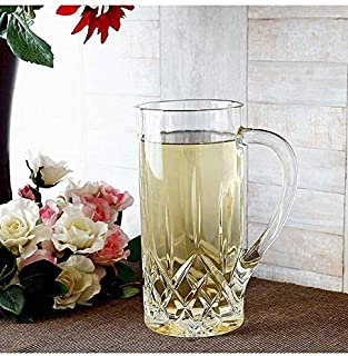 Le'raze Posh Crystal Collection Elegant Crystal Vintage Tall Martini Pitcher, Special Edition Glassware Beverage/water Pitcher 15 Inch 45 Ounces