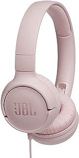 JBL Tune500 - Auriculares supraaurales y control remoto de un solo botón, micrófono incluido, asistente Google Now o Siri, rosa