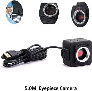 Digital Eyepiece Camera, 5.0MP C-Mount Digital USB Microscope Eyepiece Ocular Camera for Microscope