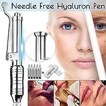 HJIS Hyaluronic Injection Pen Lips Enhancer Noninvasive Wrinkle Removal Water Syringe Injection Atomizer Pen Kit Micro Guns Silver