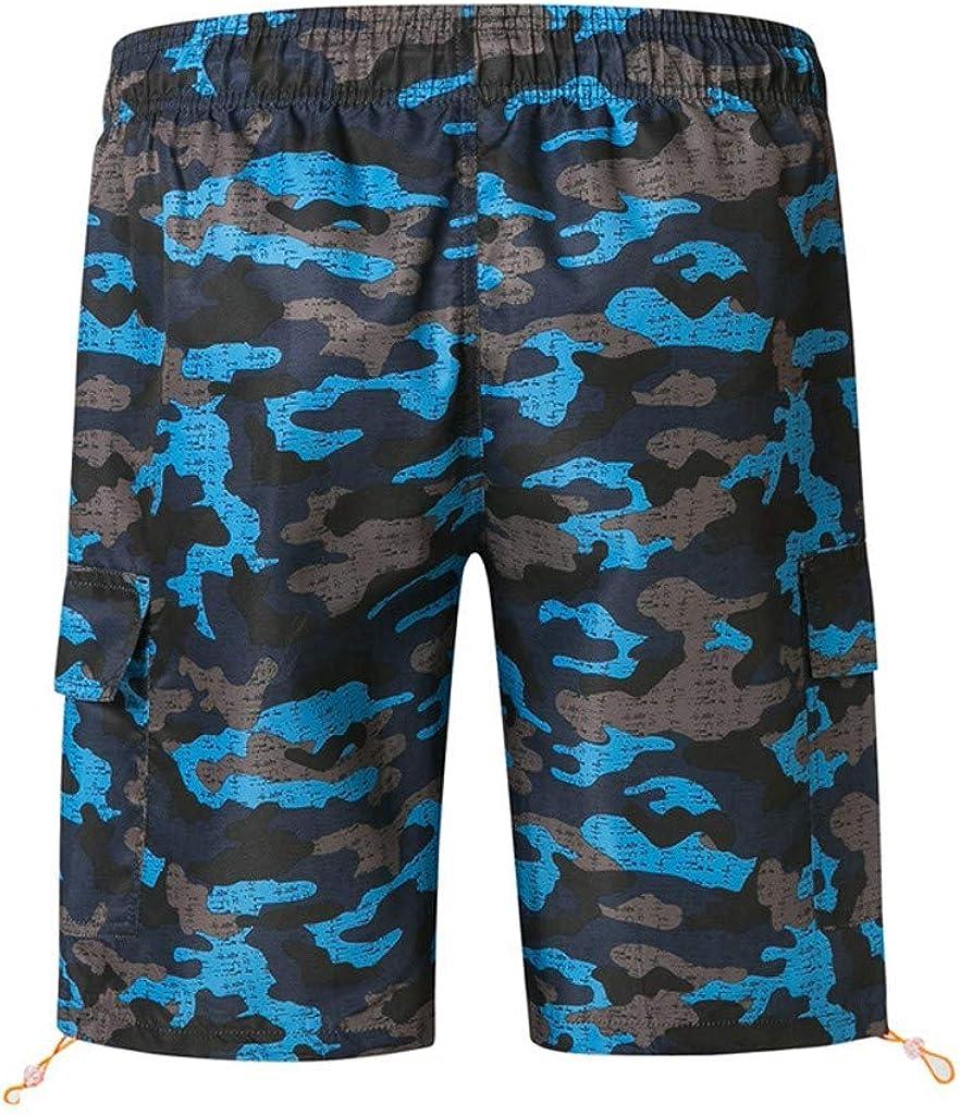 Men's Swim Trunks Shorts Quick Dry Hawaii Beach Board Shorts Drawstring Swimwear Surfing Shorts with Pockets
