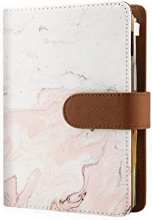 Refillable Planners with 6 Ring Binder, Personal Organizer with 2020-2022 Calendar (Year at a Glance), Pink Marble -Person... photo