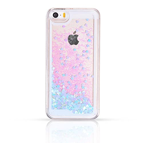 meet ab7f8 8c5fc Liquid Glitter Iphone 5s Case: Amazon.com