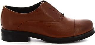 LEONARDO SHOES Luxury Fashion Womens 5241 Brown Lace-Up Shoes | Season Permanent