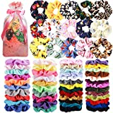 65 Pcs Hair Scrunchies Velvet