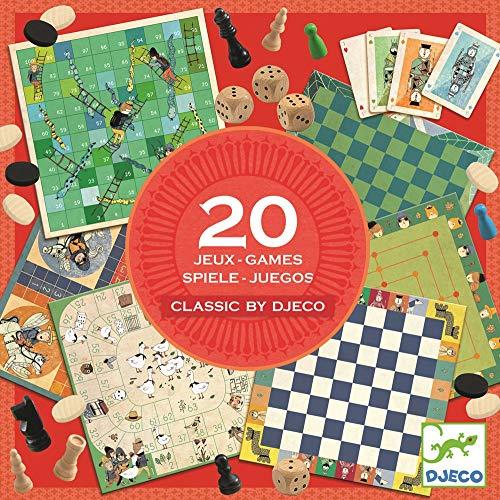 DJECO Traditionelles Spiel DJECO-Klassiker 20 Spiele bunt (15 )