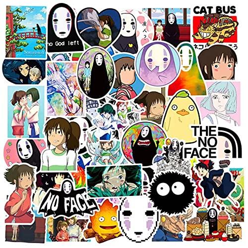 JBOBO 10/30/50 Uds.PVC Impermeable Anime Spirited Away Girl Pegatinas Guitarra monopatín Maleta niños Graffiti Pegatina Chico Juguete clásico