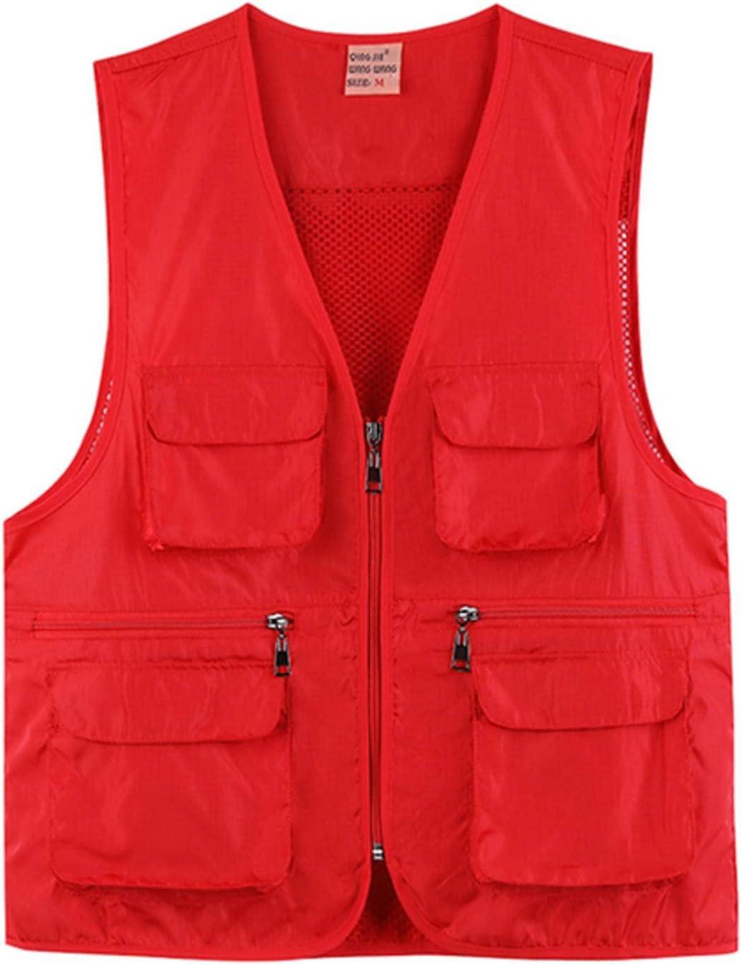 NC Seven-Color Zipper Vest Multi-Pocket Waterproof Mesh Vest Men's Vest Three-Dimensional Pocket Jacket Q865