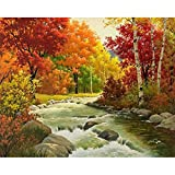 5d Diamante Painting Full, Bordado Gemälde Brillantes Four Seasons Primavera Verano Otoño Invierno DIY Diamand Pintura Cruz Dormitorio Salón Office decoración (30 x 25 m)