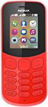Nokia 130 DS Mobile Phone, 8 MB Dual SIM Red