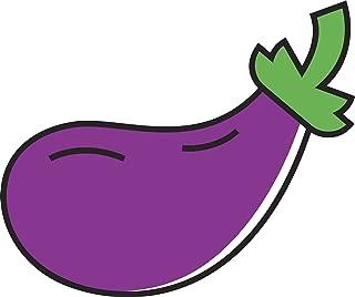 Divine Designs Large Purple Eggplant Emoji Icon Vinyl Decal Sticker (12