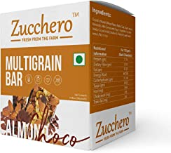 Zucchero Gourmet Choco Almond Multigrain Bar with Wholesome and Flat Tummies (300g) - 10 Pack