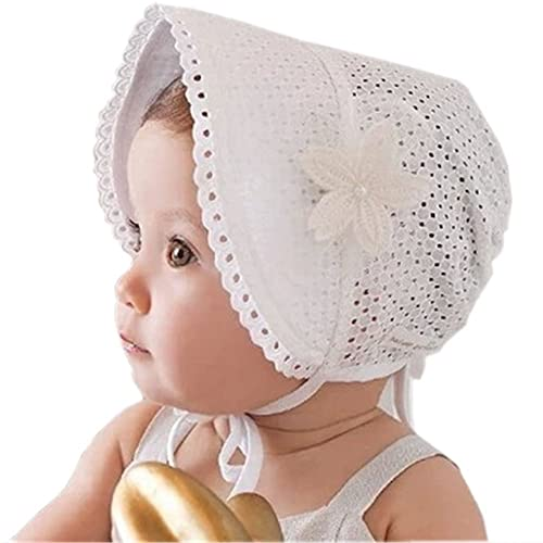 73992f33599 HBF Sweet Princess Style Lace Floral Baby Girls Beanie Cap Sunhats  Adjustable Infant Toddler Children Visor