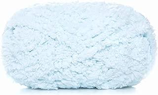 Celine lin One Skein Super Soft Warm Coral Fleece Knitting Yarn Fluffy Fuzzy Yarn Baby Blanket Yarn-Machine/Hand Wash & Dry,50g Light Blue