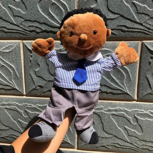 yywl Handpuppen 30cm Bürokleidung für Angestellte Familie Vater Puppen Bauchredner Handpuppen Kinder Kinder Spielzeug