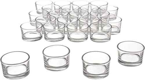 high quality Clear Glass discount Tealight Candle Holders online sale for Wedding, Birthday, Holiday & Home Decoration, 24 PK online sale