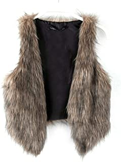 Fashion Women Faux Fur Waistcoat Short Vest Jacket Coat...