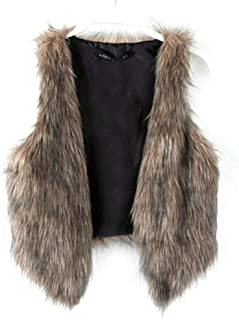 brown fuzzy vest