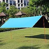 BJYX Toldos Camping Impermeables Exterior Lonas Tarp Protector Solar UV 50 + Portátil Ligera para Piscinas Playa Sombra Hamaca Tienda de Campaña Acampada Refugio Al Aire Libre