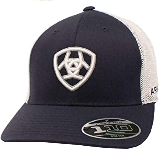 ARIAT Mens Embroidered Shield Logo Adjustable Mesh Hat