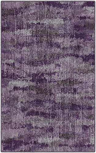 Brumlow Mills Rustic Plum Purple Vintage Abstract Area Rug, 2'6' x 3'10',