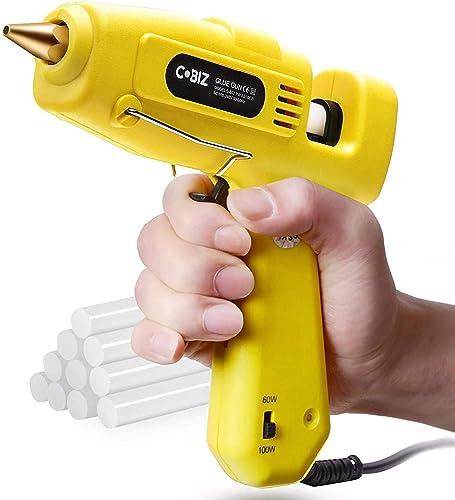 Cobiz Pistolet A Colle Chaud - Taille Réelle (Pas Mini) 60/100W Pistolet A Colle Thermofusible Haute Température A Do...