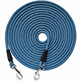 YUCFOREN Check Cord/Tie Out Long Rope Leash for Dog Training 15FT 20FT 26FT 40FT Obedience Recall Training Agility Lead for Large Medium Small Dogs, Great for Training, Camping, Playing, Backyard