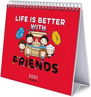Grupo Erik CS21009 Calendario da Tavolo 2021 Friends serie tv, calendario da scrivania 2021, 20 x 18 cm