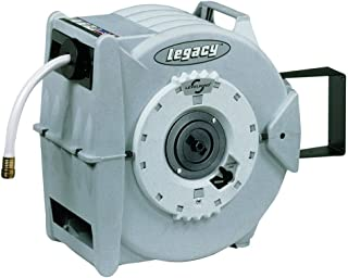 Legacy L8346 5/8 in. x 50 ft, PVC Levelwind Retractable Garden Hose Reel, (inches) x 50' (feet), White
