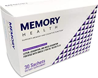Memory Health – Premium Nootropic Supplement for Cognitive Function and Memory – Clinically Proven to Support Brain Health...
