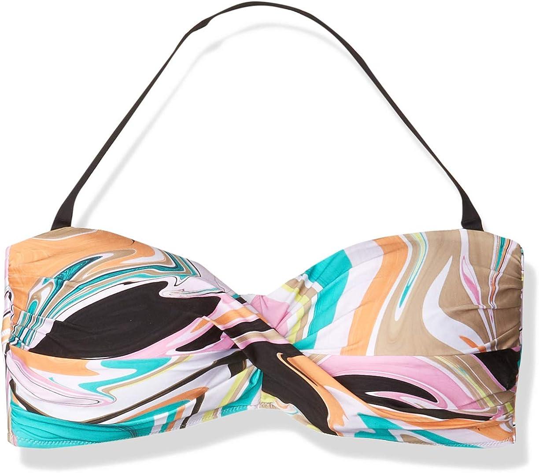 Trina Turk Women's Twist New York Memphis Mall Mall Top Bandeau Bra Bikini