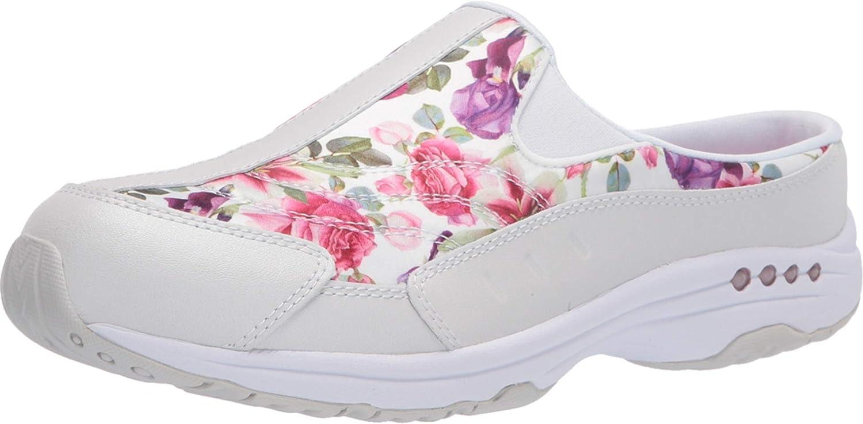 Easy Spirit discount Women's Traveltime Classic WW Floral 9 Clog Super-cheap White