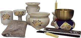仏具セット 簡易タイプ まず必要な物だけ 小さな仏壇に 金ハス仏具 リン付き