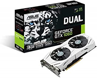 ASUS DUAL-GTX1060-3G - Tarjeta gráfica (Dual, NVIDIA GeForce GTX 1060, 3 GB, GDDR5, HDMI, DVI, DP) Color Blanco