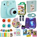 Fujifilm Instax Mini 9 Camera (USA) + Accessories kit for Fujifilm Instax Mini Camera Includes Instant Camera + Fuji Instax Film (20 PK) Case + Frames + Selfie Lens + Album and More by abesons