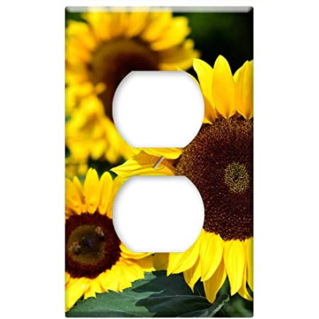 New In a World Full of Roses be a Sunflower Handmade Light Switch Plate Cover
