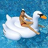 Svvsgf Nadadores de Aire, PVC Inflable Cisne Blanco Fila Flotante Inflable Cisne Negro Inflable Tianma Inflable Montaje de Cisne